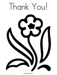 Thank You!Coloring Page