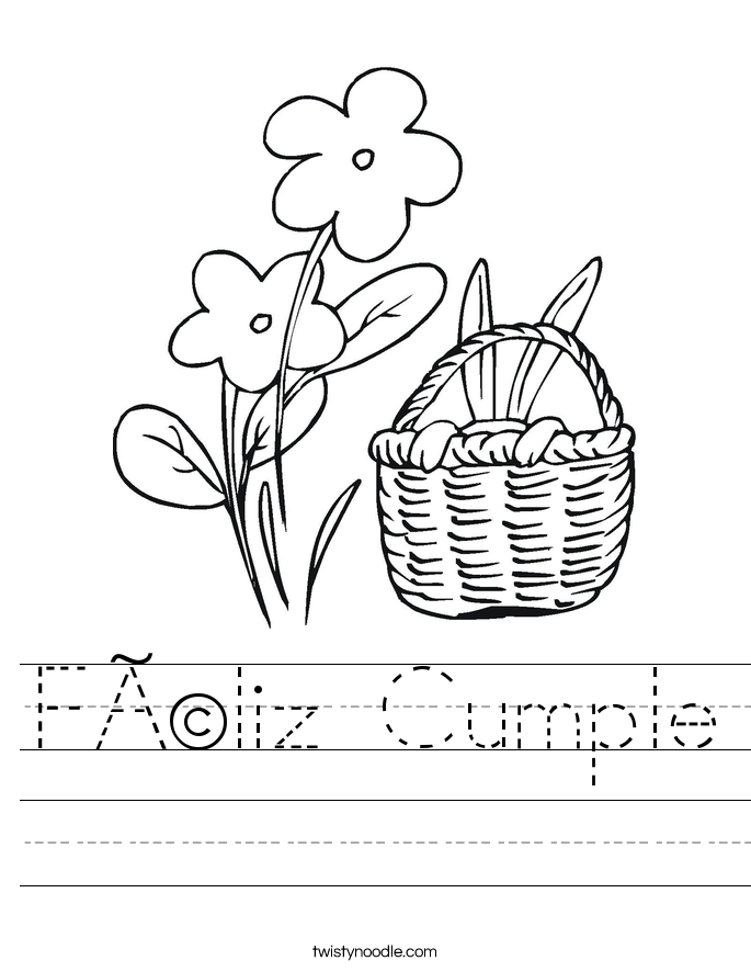 Féliz Cumple Worksheet