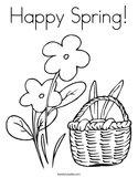 Happy Spring Coloring Page