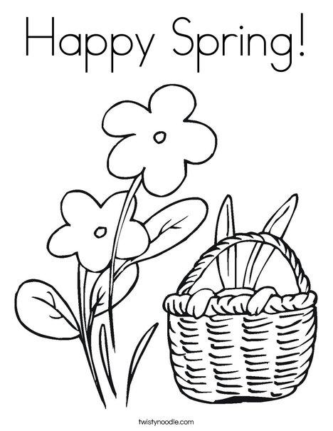 spring coloring sheet - Ceri.comunicaasl.com