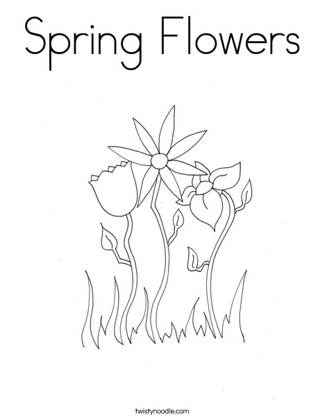 Spring flowers coloring page twisty noodle spring flowers coloring page mightylinksfo
