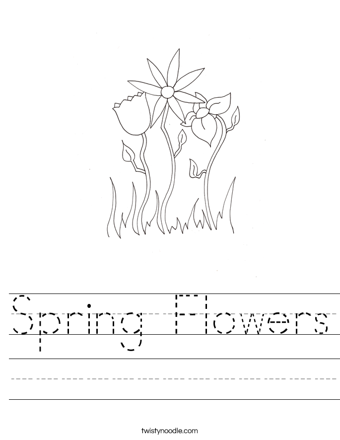 Writing Worksheets: Flowers at EnchantedLearning.com