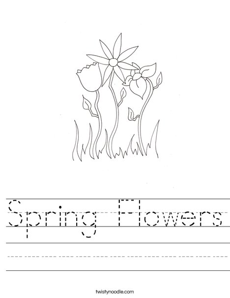 Spring Flowers Worksheet