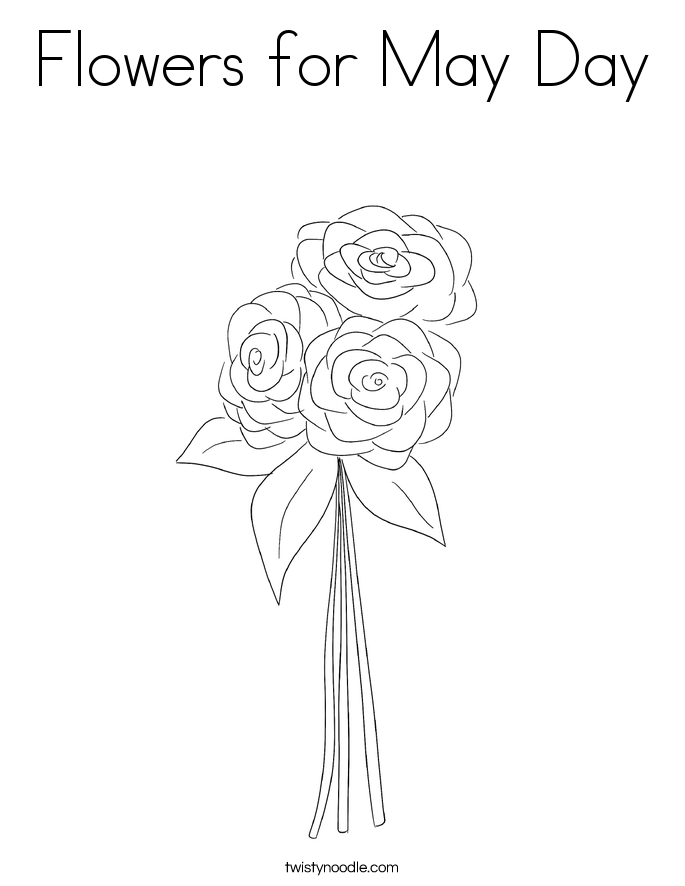 Flowers for May Day Coloring Page