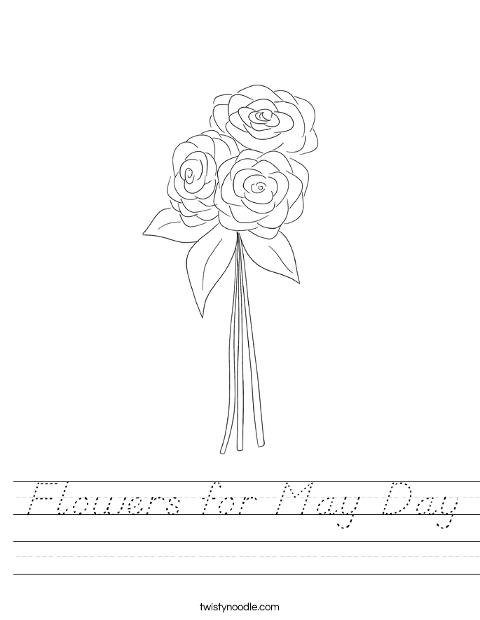 Flowers for May Day Worksheet