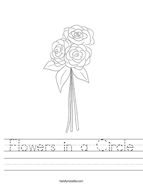 Flowers in a circle Worksheet