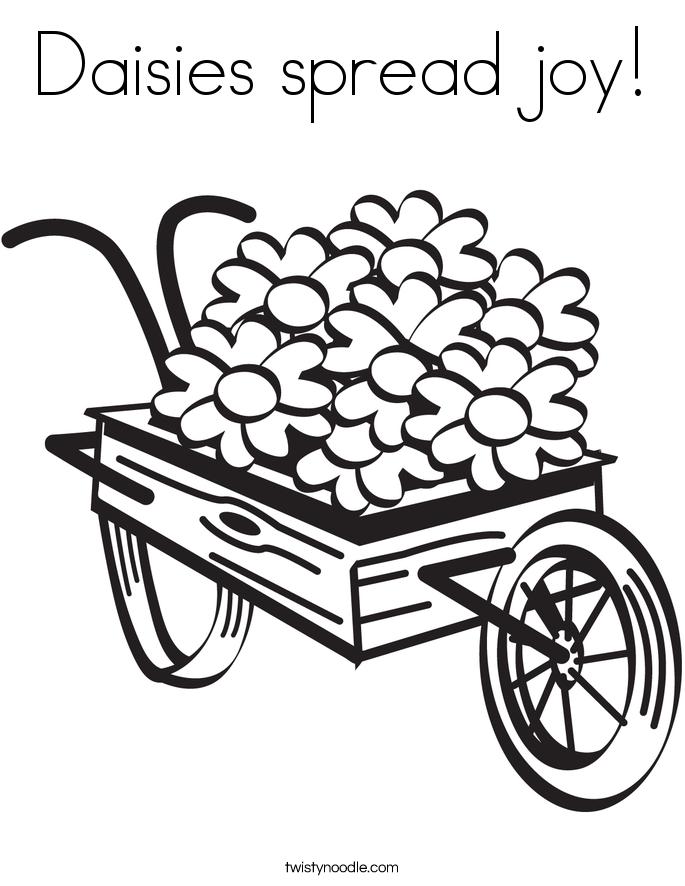 Daisies spread joy! Coloring Page