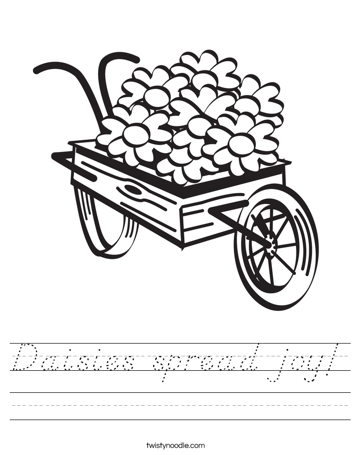 Daisies spread joy! Worksheet