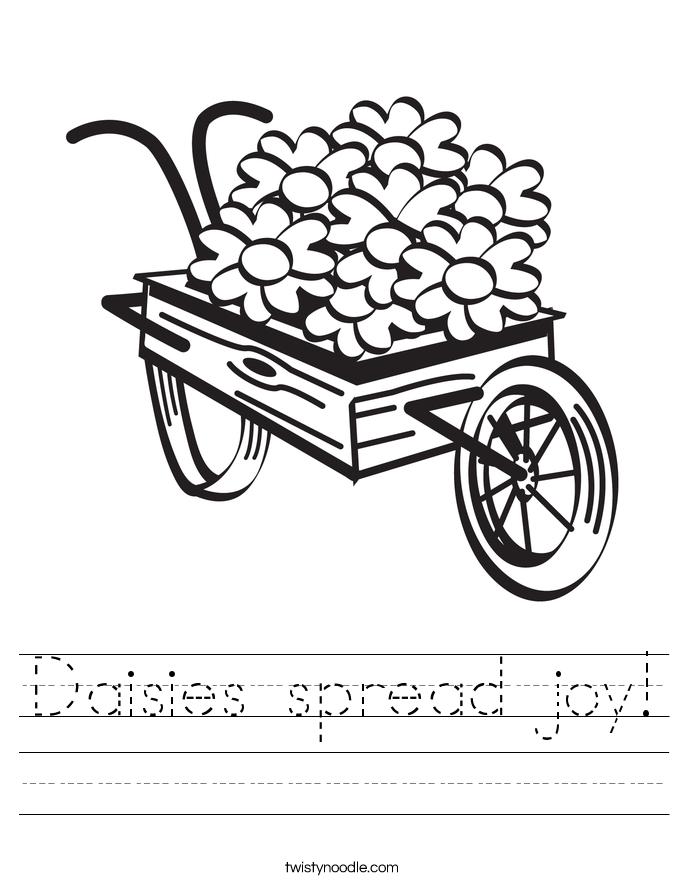 Daisies spread joy! Worksheet