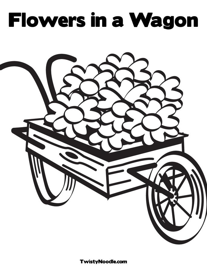 wagon train coloring pages - photo#44