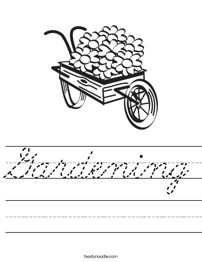 Gardening Worksheet