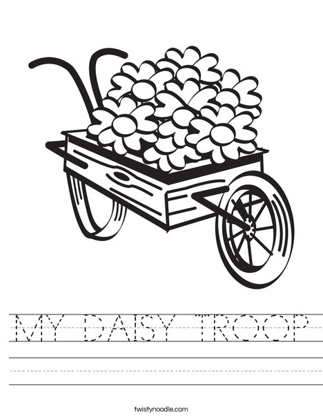 Flowers in a Wagon Worksheet