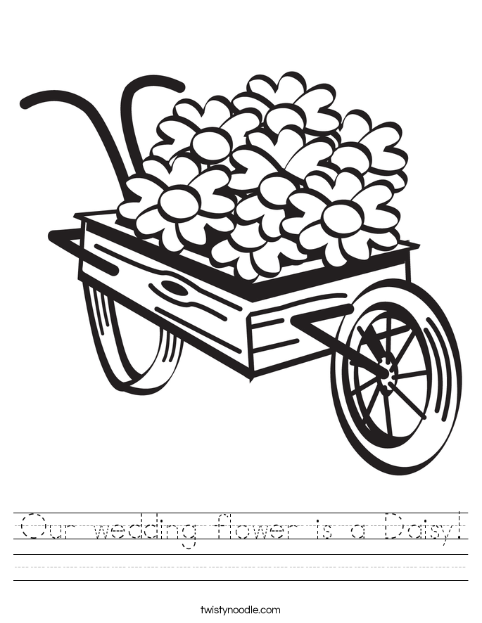 Our wedding flower is a Daisy! Worksheet