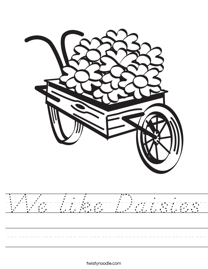 We like Daisies Worksheet