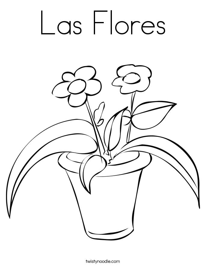 Las Flores Coloring Page