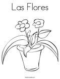 Las FloresColoring Page