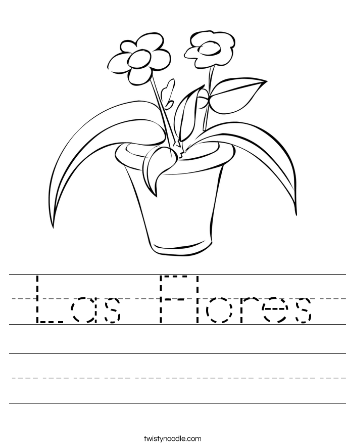 Las Flores Worksheet