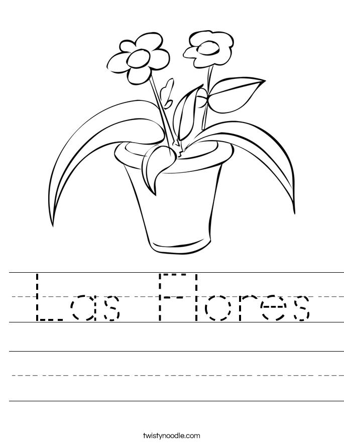 Las Flores Worksheet