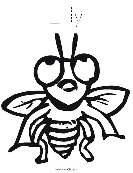 Fly with Big Eyes Coloring Page