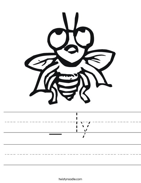 Fly with Big Eyes Worksheet