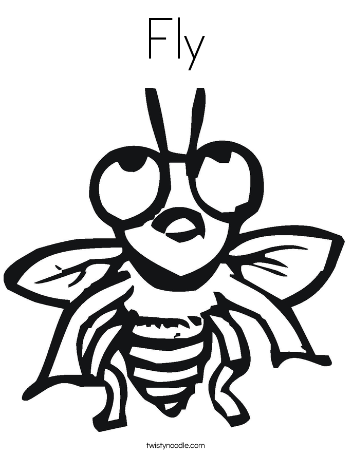 Coloring Animals That Fly Fly Coloring Animals Insects My Fly Coloring Page