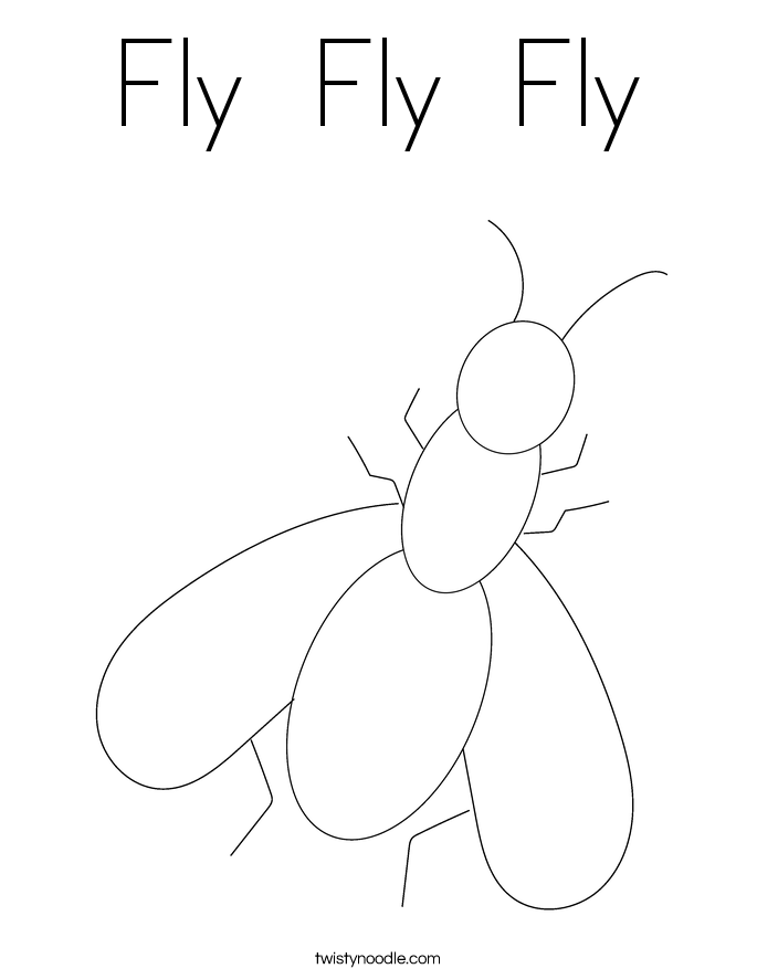 Fly  Fly  Fly Coloring Page