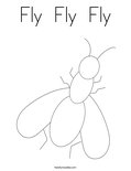 Fly  Fly  FlyColoring Page