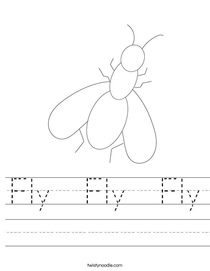 Fly  Fly  Fly Worksheet