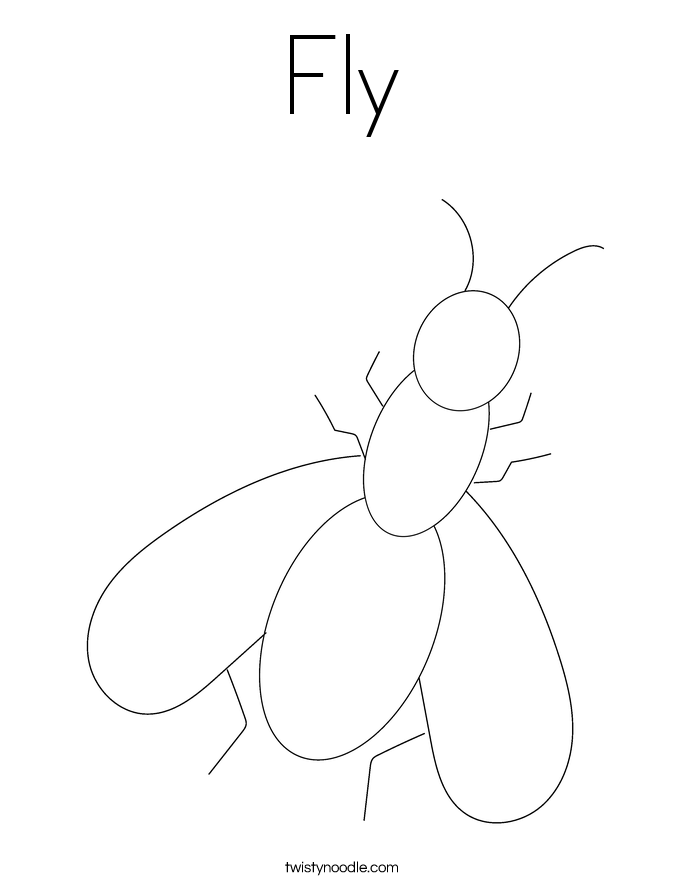 house fly coloring pages - photo #5