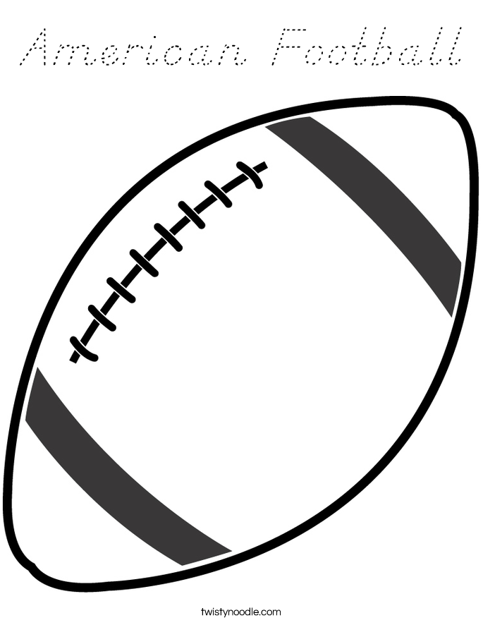 American Football Coloring Page