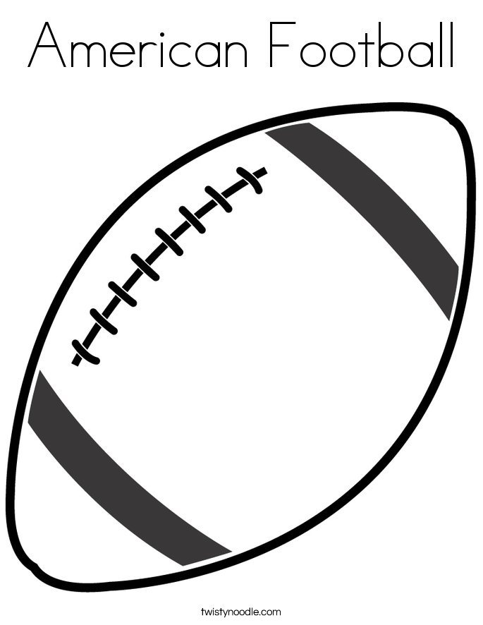 American football coloring page twisty noodle for Football color page