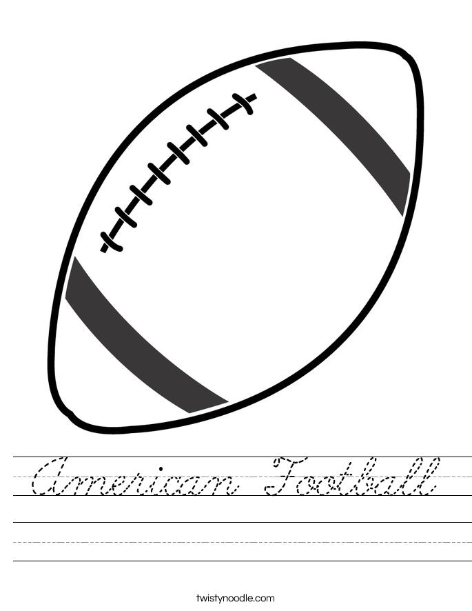 American Football Worksheet
