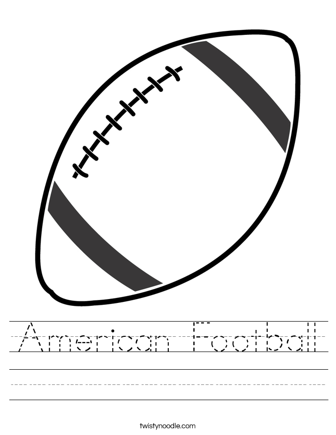 American Football Worksheet