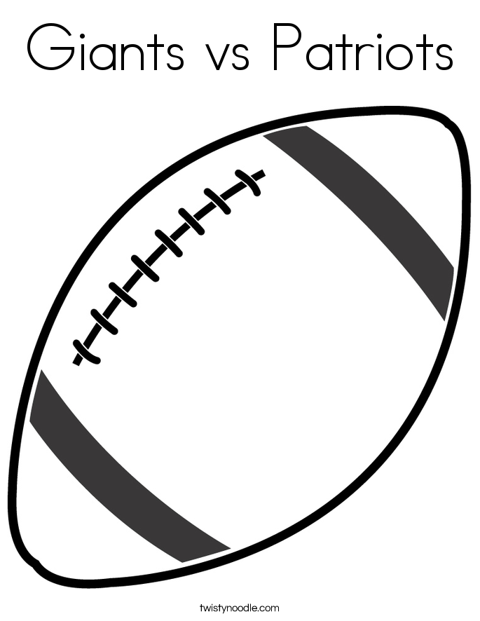Giants vs Patriots Coloring Page