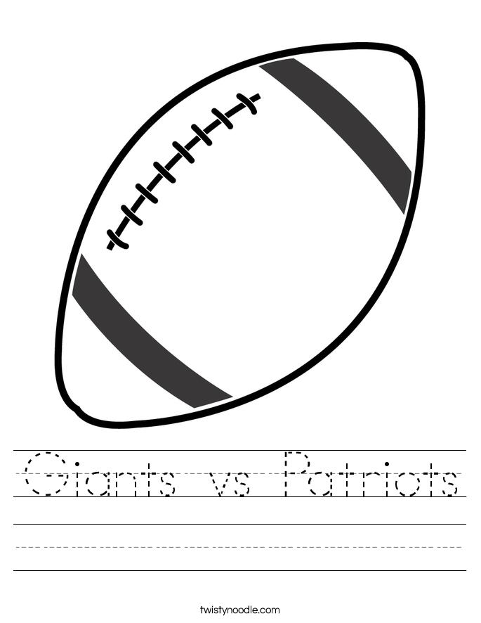 Giants vs Patriots Worksheet