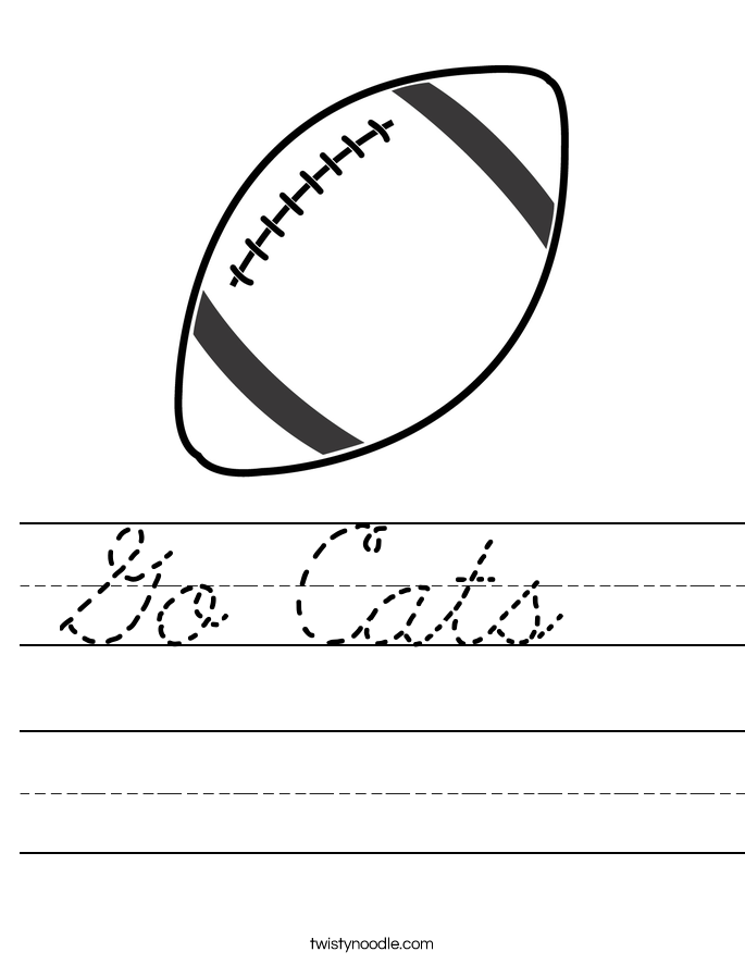 Go Cats  Worksheet