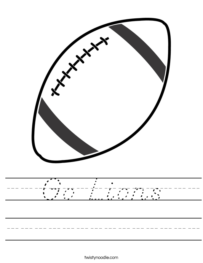 Go Lions Worksheet