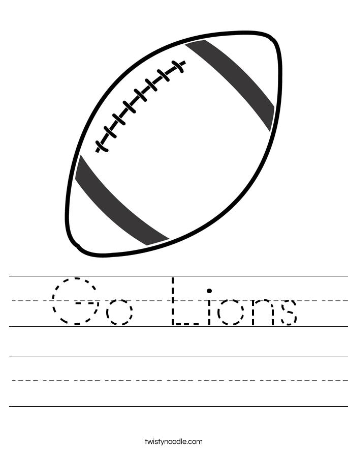 Go Lions Worksheet