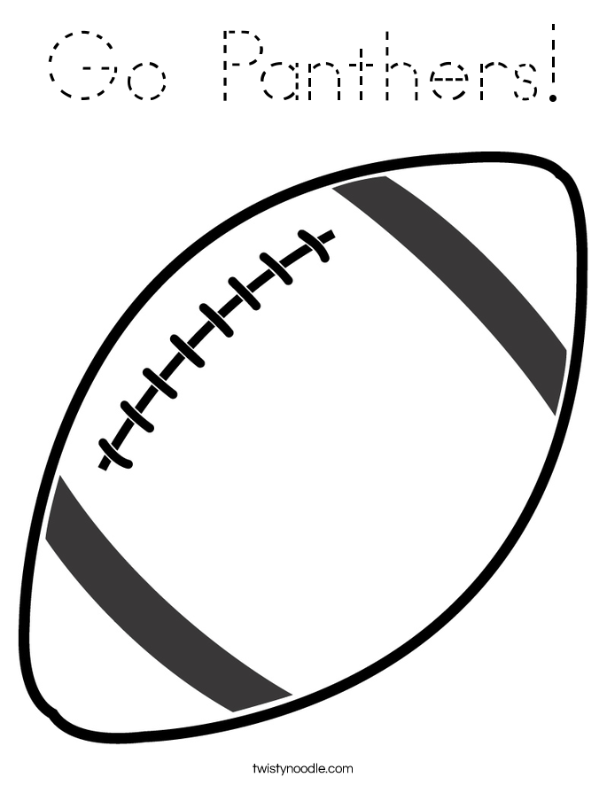 Go Panthers! Coloring Page