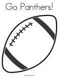 Go Panthers!Coloring Page