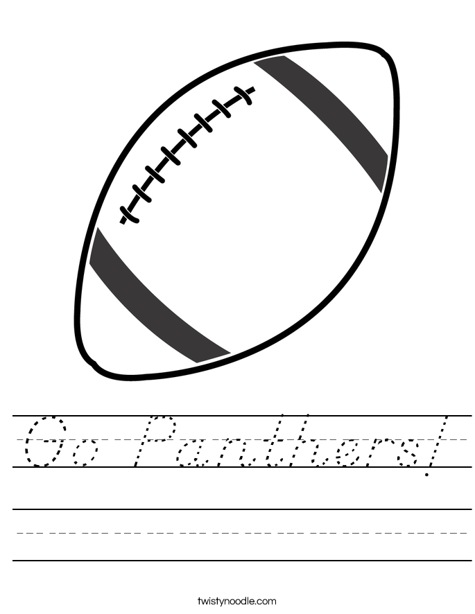 Go Panthers! Worksheet