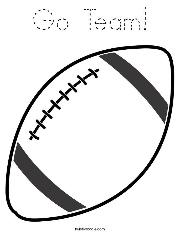 Go Team! Coloring Page