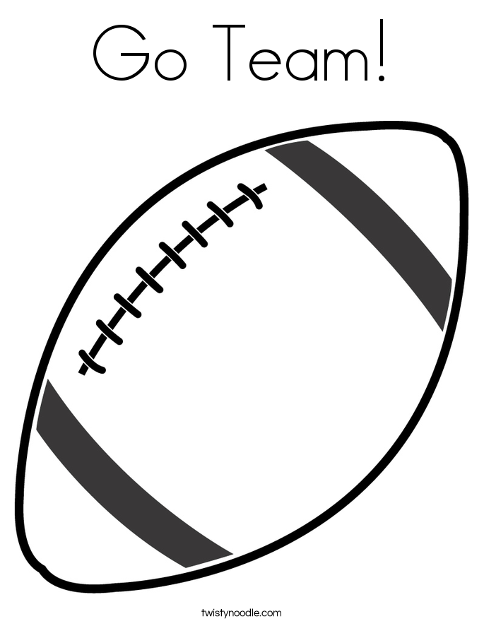 go team coloring page - Football Coloring Page
