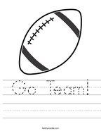 Go Team Handwriting Sheet