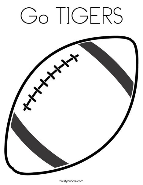Tiger Football Coloring Pages. Football 2 Coloring Page Go TIGERS  Twisty Noodle