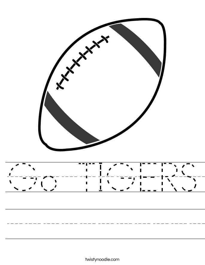 Go TIGERS Worksheet
