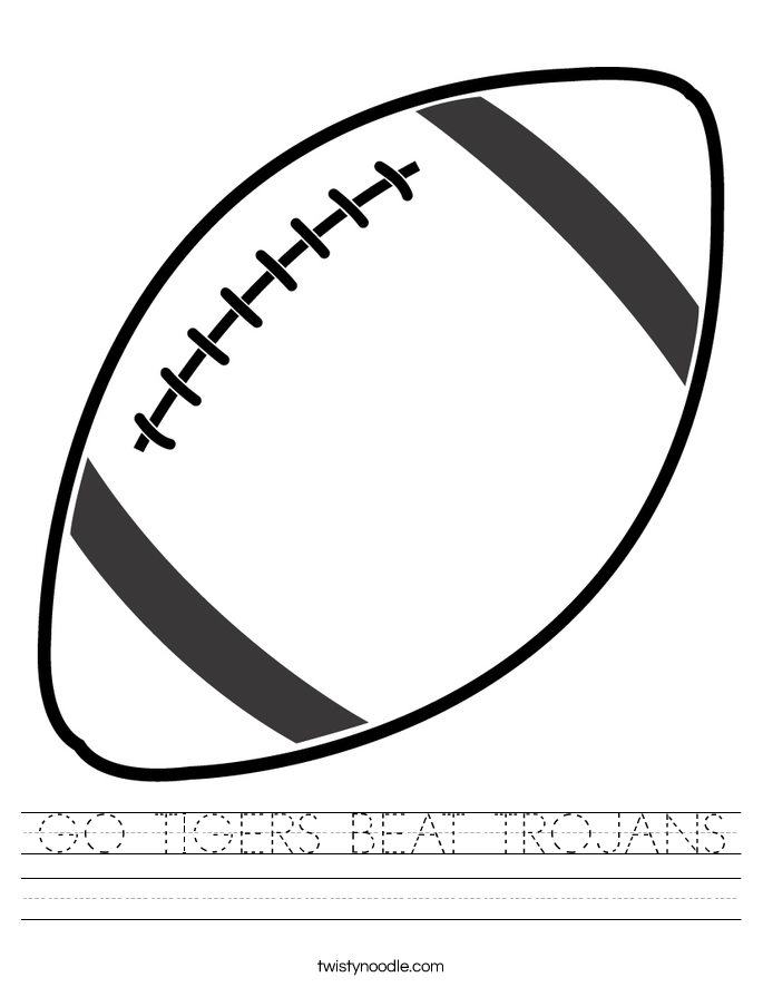 GO TIGERS BEAT TROJANS Worksheet