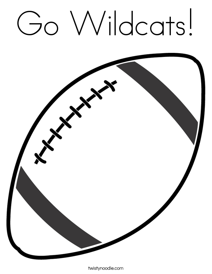 go wildcats coloring page