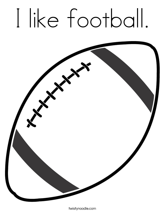 I like football. Coloring Page