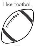 I like football. Coloring Page